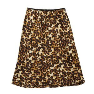 Ten Sixty Sherman Brown Leopard Print Skirt L